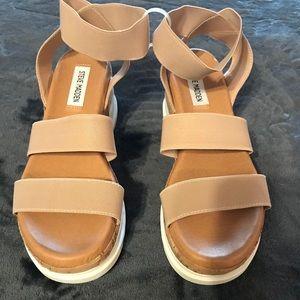 Steve Madden Bandi Strappy Nude Sandals Size6.5